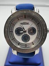 Freeze Men's Stainless Steel Genuine Diamonds Chrono Dial Watch FZ12721