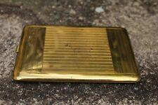 porte cigarette métal doré années 30