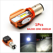 20W BA20D LED Motorcycle Headlight Front Bulb Hi/Lo Beam Lamp Light White 6000K