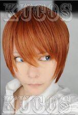 Cosplay Perücke Death Note Light Yagami Short orange Brown Kostüme Anime haar