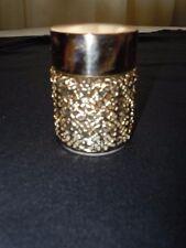 VINTAGE 1960s REVLON INTIMATE WHIPPED CREAM PERFUME GOLD FILIGREE VANITY JAR