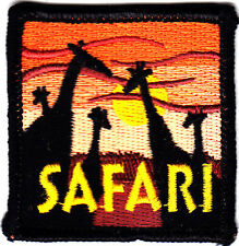 """SAFARI"" - WILD ANIMALS - ZOO - JUNGLE - TRIP - -Iron On Embroidered Patch"