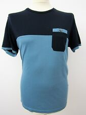 "Stylish Men""s Blue Short Sleeve T-Shirt by Ted Baker. Size 4 42"" Chest"