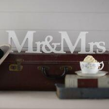 Mr & Mrs Wooden Freestanding Wedding Decoration Sign Gift Present