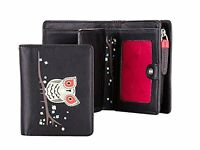 Visconti OWL Collection Digger OL70 Leather Coin Purse Cards Wallet w/ ID Window
