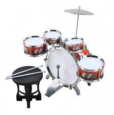 Schlagzeug für Kinder XL Bass 4 Trommeln Becken Hocker Drumsticks Drum-Set 1551