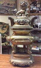 enorme brule parfum ancien en bronze indo chine hauteur 59cm