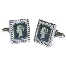 Penny Black Postage Stamp Queen Victoria Cufflinks