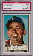 1952 Topps Baseball # 361 Bill Posedel PSA 6.5 High Number