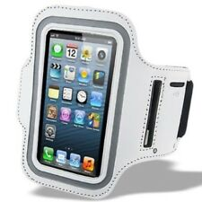 White Sport Jogging Arm Band Strap Gym  Velcro Strap Pouch For iPhone 5 5S