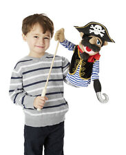 "PIRATE PUPPET~17"" HAND PUPPET~Melissa & Doug # 3899 ~FREE SHIP/USA"