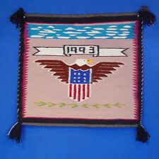 """Navajo Rug, American Eagle Pictorial 24"""" x 22"""""""