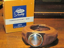 Vintage medical science tonsillectomy bag Davol with box