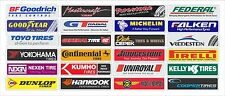 "Tire Brands stickers 1.5"" x 6.0"" (24) units in the set"