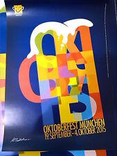 2015 Original Plakat Poster Oktoberfest München Wiesn DIN A1
