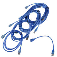Transparent Blue USB 2.0 Printer Cable Type A Male to Type B Male,Dual Shield FE