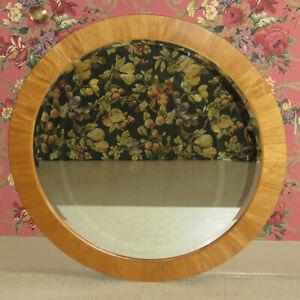 Ethan Allen Radius Beveled Glass Mirror Blonde Wood Finish 12 5420 Made in USA