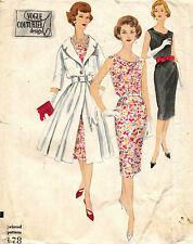 1950's VTG VOGUE Couturier Design  Dress and Redingote w/Label Pattern 178  16