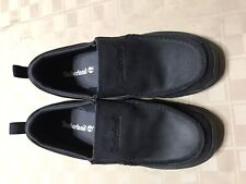 EUC Timberland Black Casual Moc Toe Slip On A1430 Loafers Shoes Boys Size 6