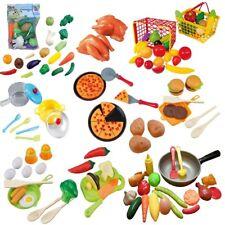 LEBENSMITTEL SET Kinder Spielzeug Kinderküche Kaufladen Obst Gemüse Pfanne  Topf