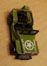 Vintage Hot Wheels US ARMY Jeep 1970 Green Missing Weapon Mattel Toy Car