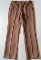 Vtg 70s LEVI'S Pants Brown DACRON POLYESTER Leisure suit Disco Retro MENS 34x34