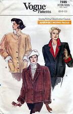 Vogue 7595 Coat JACKET Sewing Pattern Uncut Size 6-8-10