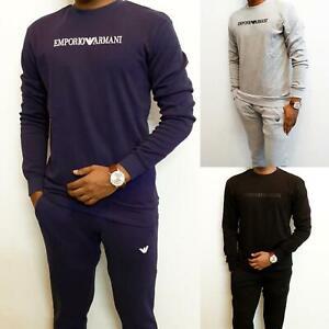 Men's Armani tracksuit -Sweatshirt with jogger Cotton THINNER fabrics  SLIM FIT