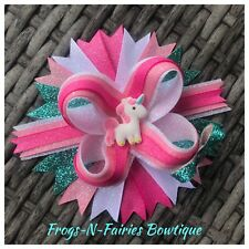 Unicorn Sparkle Pink Boutique Hairbow