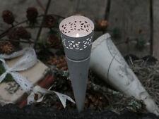 Chic Antique Spitztüte Teelichthalter weiß Shabby Landhaus Vintage Antik-Stil