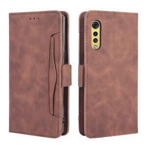 For LG Velvet 5G UW Magnetic Leather Wallet Card Slot Removable Phone Case Cover