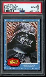 2019 Topps Star Wars Living Set #1 Darth Vader PSA 10 Gem Mint SP Card