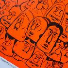 BARRY McGEE FACES ORIGINAL 2013 EXHIBITION POSTER MARGARET KILGALLEN STREET ART