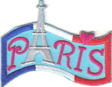 """PARIS"" - FRANCE - EIFFEL TOWER - FRENCH - TRIP - Iron On Embroidered Patch"