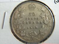 1919 Canada Sterling Silver 50 Cent Piece-19-229