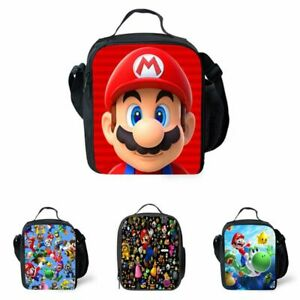 Super Mario Kids Insulated Lunch Bag School Picnic Outdoor Lunchbox Xmas Gift