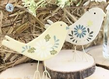 GISELA GRAHAM EASTER COUNTRY DAISY WOOD BIRD DECORATION