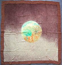 foulard carré en crêpe de soie CHARLES JOURDAN 87 cm x 85 cm VINTAGE