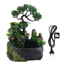 Mini Waterfall Desktop Fountain Zen Meditation Waterfall EU Plug 110-240V