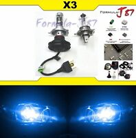 LED Kit X3 25W 9003 HB2 H4 10000K Blue One Bulb Head Light Replace Motorcycle