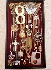 23 Piece Vintage and Modern Chains w/ Pendants Necklace Lot - Trifari, Avon