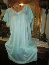 BLAIR SEAMIST GREEN NYLON NIGHTGOWN DRESS LINGERIE SIZE LARGE
