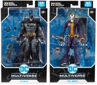 """McFarlane Toys DC Multiverse Arkham Asylum 7"""" Batman & Joker Action Figure Lot"""