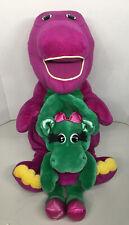 "Jumbo 26"" Talking Singing BARNEY the Purple Plush Dinosaur 2001 Baby Bop 1992"