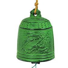 Japanese Furin Wind Chime Nanbu Cast Iron Iwachu Green Dragon, Made in Japan