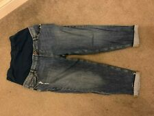 Asos Maternity Size 18 Distressed Girlfriend Jeans With Over Bump Wasteband