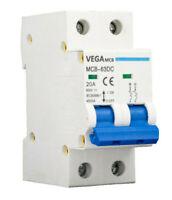 DC-Breaker / DC-Trennschalter / PV Solar  / 20A / 800 VDC / 2 Polig / Vega MCB