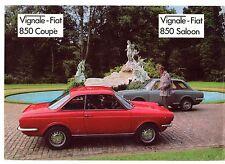 Vignale Fiat 850 Saloon & Coupe 1969 UK Market Leaflet Sales Brochure