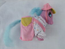 c1980s Unmarked Purple My Little Pony Baby in Playsuit and Cap