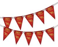Chinese New Year 2020 Rat - Bunting Banner 15 flags by PARTY DECOR - 新年快乐 / 新年快樂